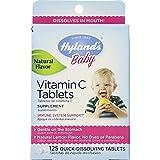 Hylands  Baby Vitamin C Tablets Natural Lemon Flavor - 125 Tablets (Pack of 12)
