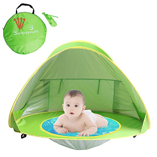 los angeles 8db5d 1e456 Sunba Youth Baby Beach Tent, Baby Pool Tent, UV Protection Sun Shelters  (Green)