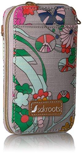Power Flower Convertible Circle Smartphone Sakroots Wristlet Bag Body Cross Lilac Artist wvxIqz