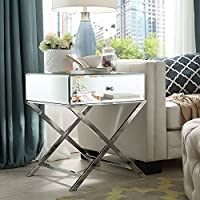 Ciampi Mirrored End Table
