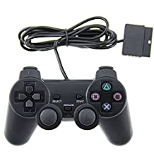 Generic PS2 Wired Controller for Sony PlayStation 2 Black