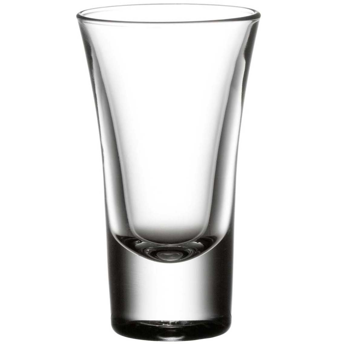 King International 100% Crystal Glass Heavy Base Curved Shot Glass Set of 6 | 2-Ounce Shot Glasses- Ideal fror Whiskey, Vodka, Tequilla| Bar tools | Bar Accessories by King International