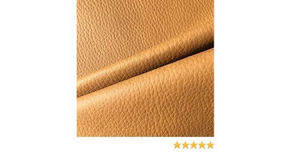 Tela por metros de polipiel para tapizar - Tapicería - Ancho 140 cm - Largo a elección de 50 en 50 cm   Marrón camel