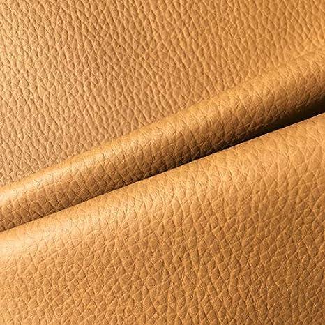 Tela por metros de polipiel para tapizar - Tapicería - Ancho 140 cm - Largo a elección de 50 en 50 cm | Color (Marrón camel)