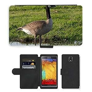 PU LEATHER case coque housse smartphone Flip bag Cover protection // M00108210 Ganso Canadiense de Vida Silvestre de // Samsung Galaxy Note 3 III N9000 N9002 N9005