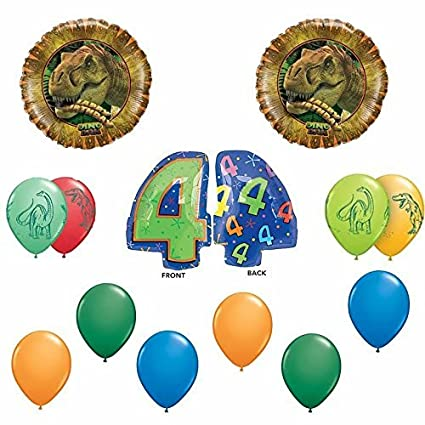 Amazon Dinosaur Happy 4th Birthday Balloon Decoration Kit Toys Games