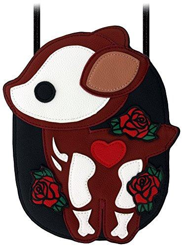 Borsa Deer Skeleton With Heart & Flowers 18 x 22 cm