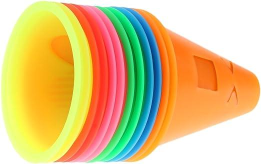 10 St/ück 3 PVC Bunten Slalom Zapfen Pylonen Pylone Kegel H/ütchen Agility Blau