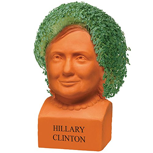 Hillary Clinton Chia Freedom Of Choice Live Plant Statue - Presidential Bust