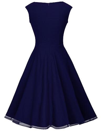 HOMEYEE B003 - Vestido de fiesta para mujer, estilo vintage, años 50: Amazon.es: Ropa y accesorios