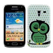 kwmobile Hard case Design sleeping owl for Samsung Galaxy Ace 2 in green black white