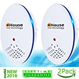 EHOUSE Ultrasonic Pest Repeller - Electronic & Ultrasound, Indoor Plug-In Repellent - Get rid of - Rodents, Mice, Rats, Squirrels, Insects, Bed Bugs, Ants, Fleas, Mosquitos, Fly, Spiders, Roaches!
