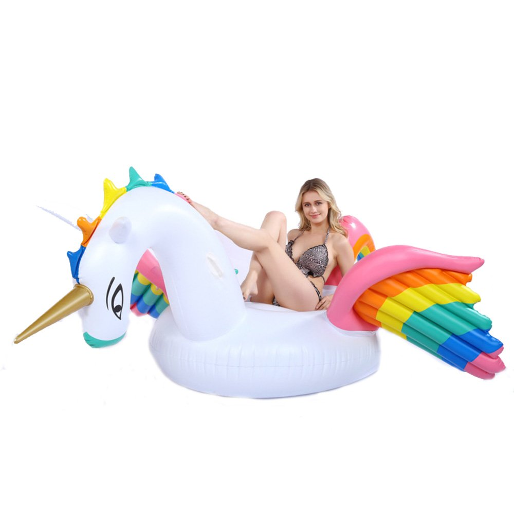 Fly Summer Water Inflatable Floating Row Color Wing Unicorn Inflatable Floating Bed Water Supplies Inflatable Floating Row
