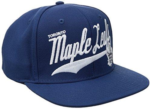 Maple Leafs Hats (Reebok NHL Toronto Maple Leafs Men's SP17 Tail Sweep Flat Brim Snapback Hat, Blue, One Size)