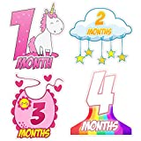 Baby Monthly Milestone Stickers Baby Shower Gift 12 Months Baby Milestone Sticker for Newborn Baby First Year Baby Shower Gift