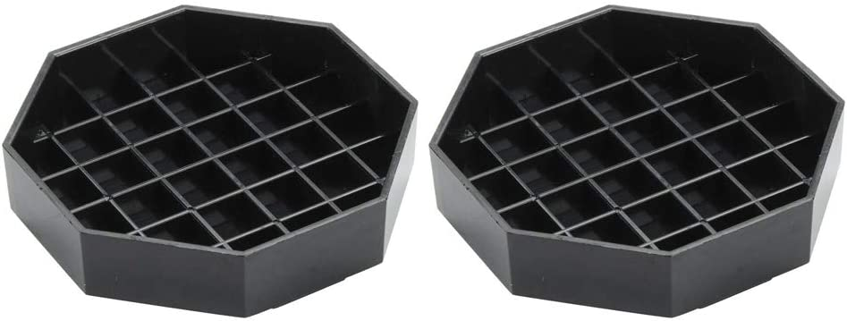 """Happy Reunion Drip Trays 4.5"""" Coffee Countertop Octagon Drip Tray Black Plastic Coffee Drip Tray With Honeycomb Grid, Pack of 2 (2 Pcs 4.5"""")"""