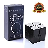 Infinity Cube Fidget Toy, Light Luxury EDC Fidgeting Game for Kids and Adults, Mini Classic Cube Spinner Best for Stress and Anxiety Relief (Black) by aSmallFish