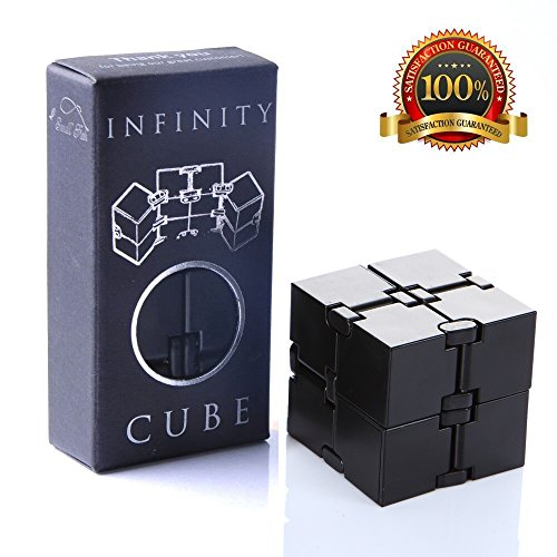 Infinity Cube Fidget Toy, Sensory Tool EDC Fidgeting Game for Kids and Adults, Cool Mini Gadget Best for Stress and Anxiety Relief and Kill Time, Unique Idea that is Light on the Fingers and Hands -