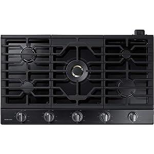Samsung NA36N7755TG 36 Black Stainless 5 Burner Gas Cooktop NA36N7755TG/AA