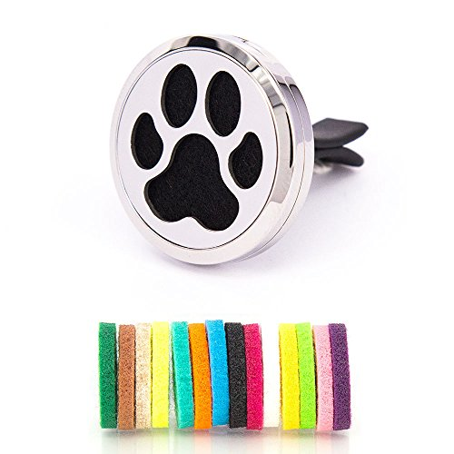 mesinya-dog-paw-30mm-air-freshener-diffuser-stainless-steel-car-vent-clip-aromatherapy-essential-oil