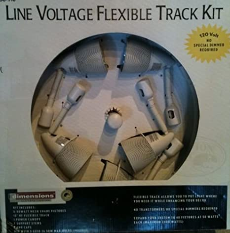 FLEXIBLE LINE VOLTAGE TRACK LIGHTING KIT-HAMPTON BAY-Model # EC0830BA-3 - Track Lighting Accessories - Amazon.com