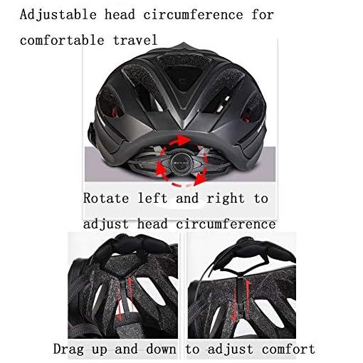 WJHCDDA Casque de vélo Casque vélo Urbain Femme Casque vélo Polyvalent Casque VTT Vélo Vélo Planche à roulettes Scooter Hoverboard Casque Adulte Hommes Casque de vélo de Couleur en Option