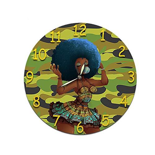 KeeYi Wall Clock Decorative Indoor Kitchen Clock Wall Clock -Easy to Read -