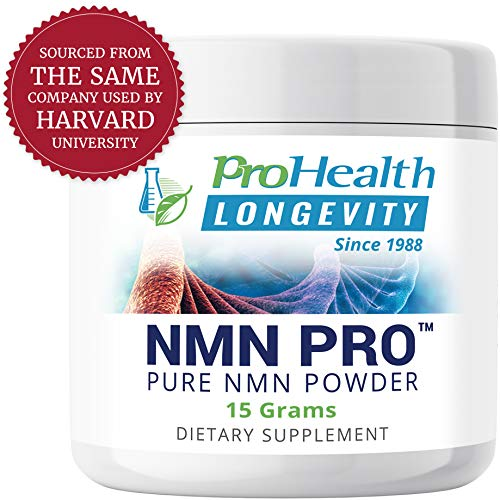 ProHealth NMN Powder (15 Grams) Nicotinamide Mononucleotide | NAD+ Precursor | Supports Anti-Aging, Longevity and Energy | Non-GMO (Best Anti Aging Supplements On The Market)