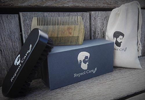 beard brush beard comb kit handmade comb and natural boar bristle beard brush for men beard and. Black Bedroom Furniture Sets. Home Design Ideas