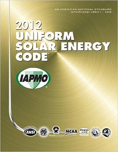 2012 Uniform Solar Energy Code International Association Of