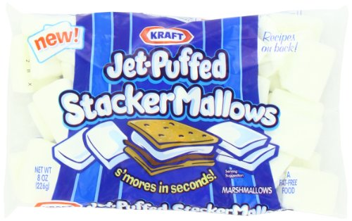 Jet-Puffed Stacker Marshmallows For S'Mores, 8 Ounce