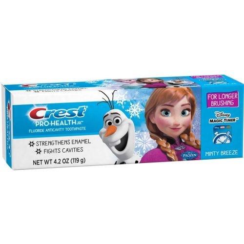 Crest Pro Health Jr Disney Frozen Characters Kids Minty Breeze Toothpaste, 4.2 Ounce -- 24 per case.