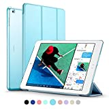 New iPad 2017 iPad 9.7 inch Case, ESR Ultra Slim Lightweight Smart Case Trifold Stand with Auto Sleep/Wake Function, Microfiber Lining, Hard Back Cover for Apple New iPad 9.7-inch,Sky Blue