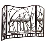 SPI Home Crane Flock Aluminum Fireplace Screen For Sale