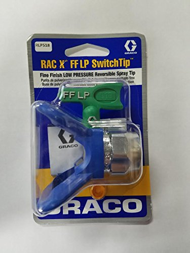 Graco RLP518 Fine Finish Low Pressure RAC X Reversible Tip with RAC X Guard (Reversible Spray Tip Guard)