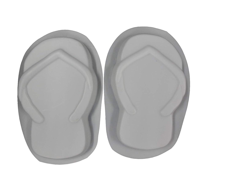 9bda23b27 Amazon.com  Huge 19in Flip Flops Stepping Stone Concrete Plaster Mold Set  1256
