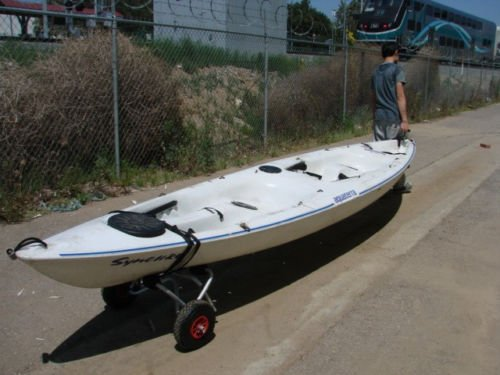 New Kayak Canoe Jon Boat Carrier Dolly Trailer Tote Trolley Transport Cart Wheel