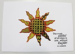 ''Wasted Sun'' (Blank inside) Cotton Cardstock 5'' x 7''