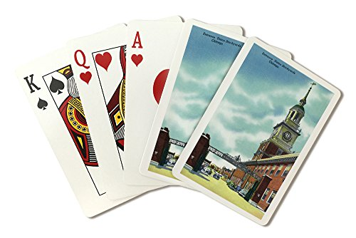 (Chicago, Illinois - View of The Union Stockyards Entrance (Playing Card Deck - 52 Card Poker Size with Jokers))