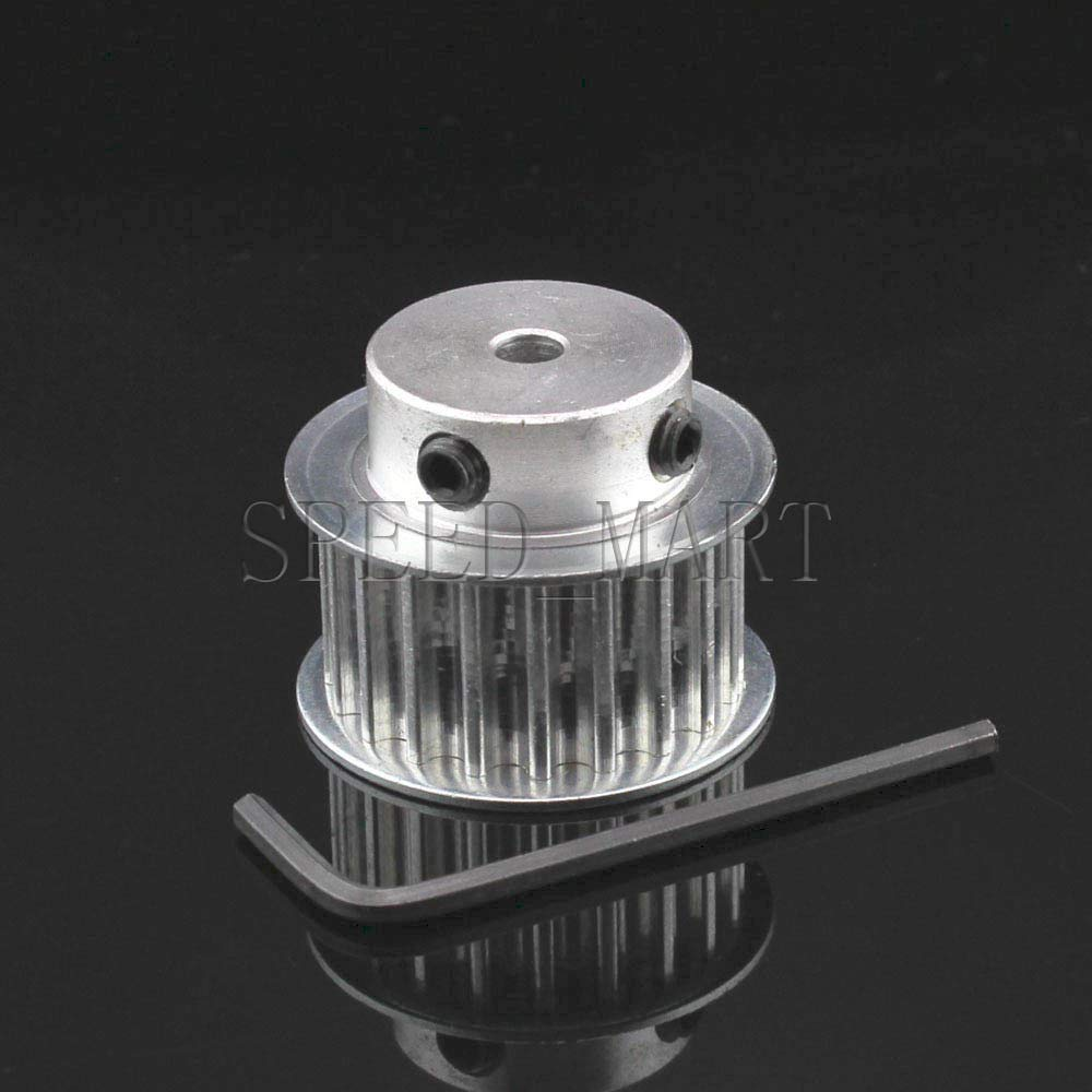 HTD3M 18T 5//6//6.35//8mm Bore 16mm Width Stepper Motor Timing Belt Drive Pulley