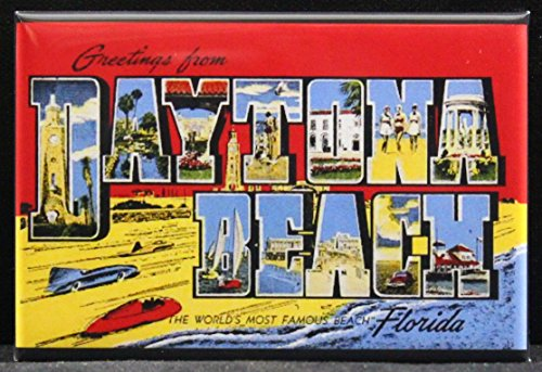 (Greetings From Daytona Beach Refrigerator Magnet. Florida)