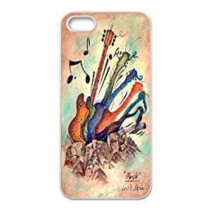 High quality guitar Hard Shell Cell Phone Case Cover for For iphone Case 5,5S FKGZ430822