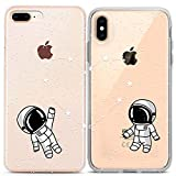 Lex Altern Cute iPhone Case Xs Max Xr X 10 8 Plus 7 6s 6 SE 5s 5 Apple Astronaut Matching Protective Space Silicone Constellation Cover Clear TPU Girlfriend Anniversary Phone Women Print Love Gift Gel