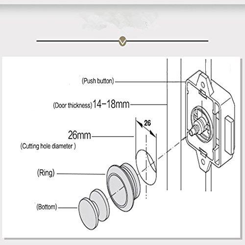 MATCC Push Button Catch push button cabinet latch for rv