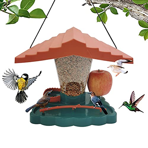 Roof Wild Hanging Gazebo Wild Bird Feeder, Panorama Bird Feeder, Wall-Mounted Bird Feeder, For Garden Yard Outside Decoration