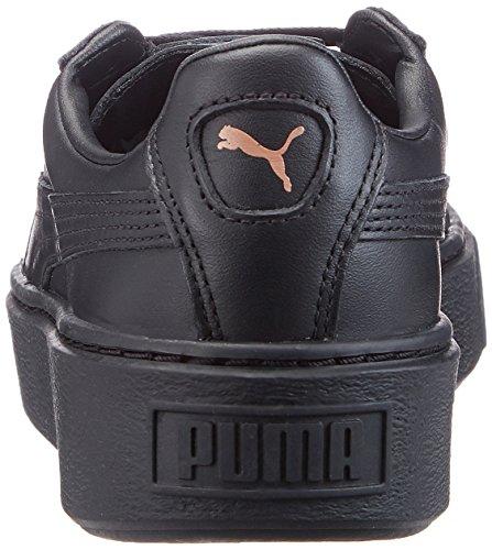 Puma Basket Platform Metallic, Scarpe da Ginnastica Basse Donna Nero (Black-rose Gold)