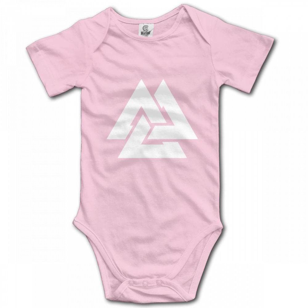 Valknut Viking Age Symbol Norse Warrior Infant Baby Girl Boy Romper Jumpsuit Outfits Clothes Sleepwear