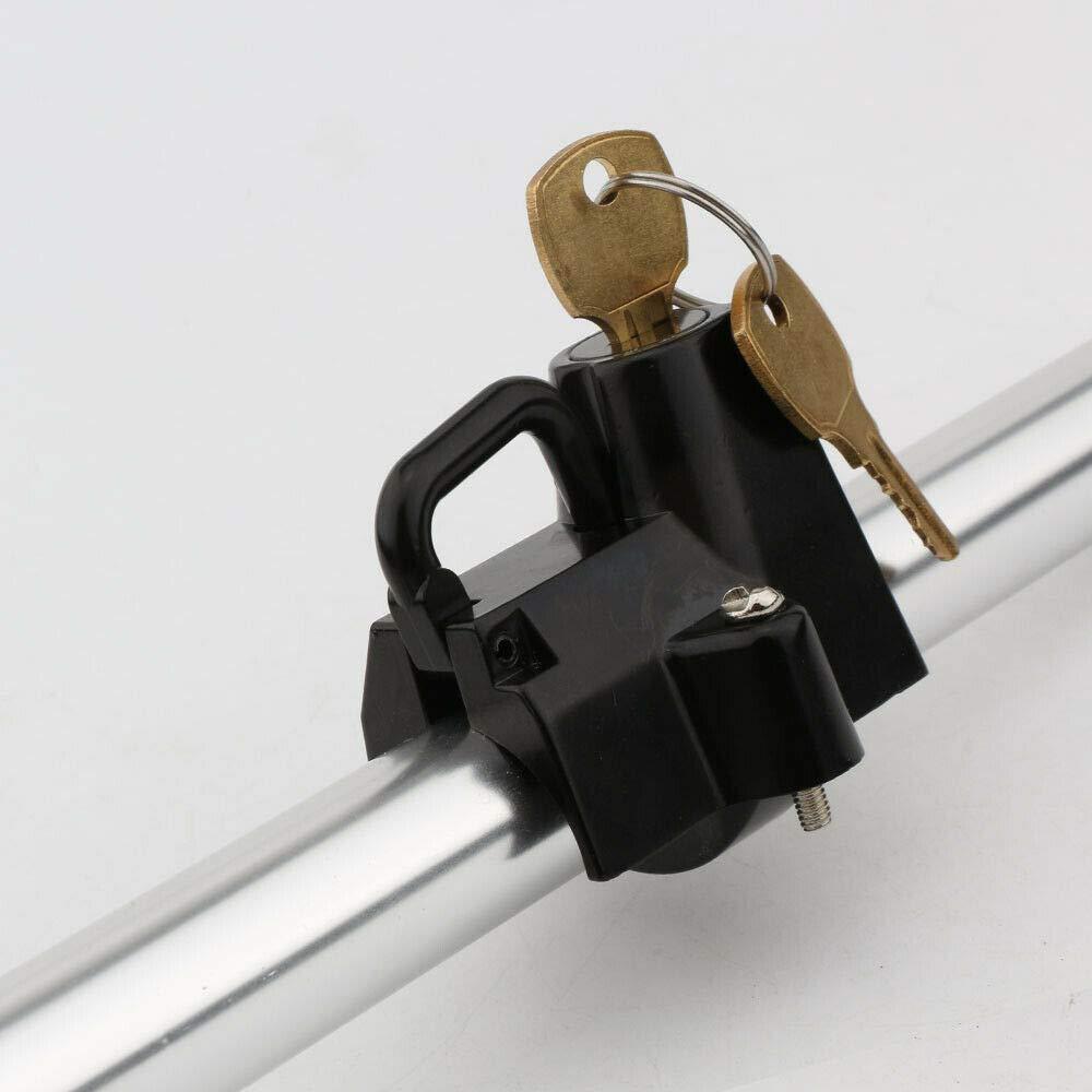 Ocamo Color Negro Candado para Casco de Motocicleta Universal de 7//8 hasta 1-4 22-32 mm protecci/ón antirrobo