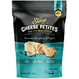Stacy's Cheese Petites Cheese Snack, Romano & Black Pepper, 7.5 Ounce Bag, 2 Pack