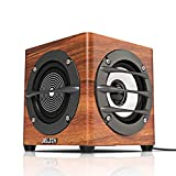 JELICH Wood USB Computer Speaker – Wired USB Powered Multimedia Small Speaker with Double Bass for PC /Desktop /Laptops /Smart Phone
